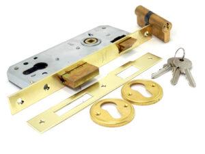 Замок врезной 189/3MF (с 3 ключами) ключ крест (30) КАЛЕ