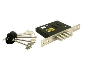 Замок врезной ЗВ8 190.0.0 (5 ключей) (как Кале 189-4 MF) 4риг, сув.ключ МЕТТЭМ (20)