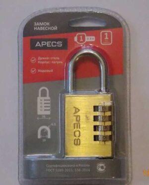Замок висячий Apecs PDB-40-38-CODE